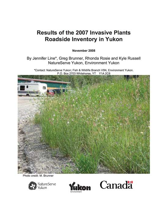 2007 Invasive Plants Roadside Inventory
