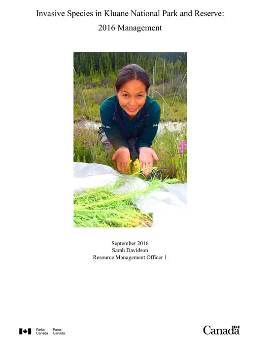 Kluane Invasive Species Management Report (2016)