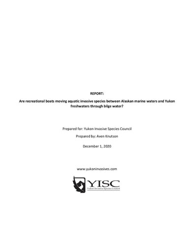 Yukon Bilge Water Literature Review Final