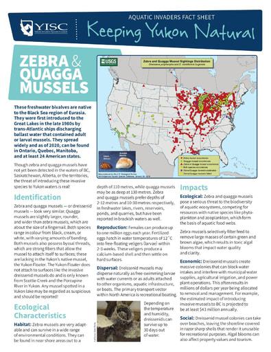 Fact sheet on Zebra and Quagga Mussels